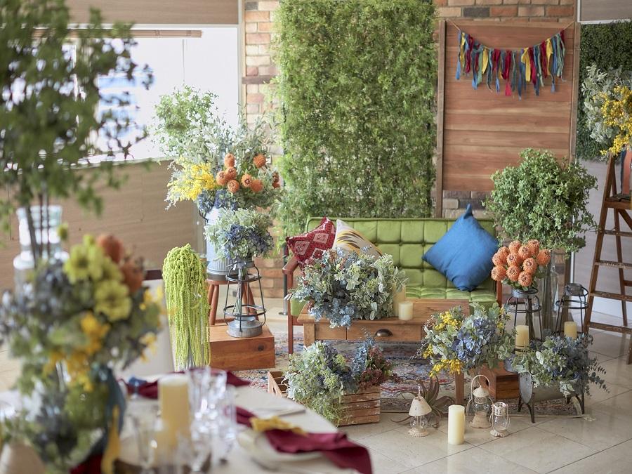 非日常的な空間を、おふたりの好みに合わせて自由に飾り付けができる