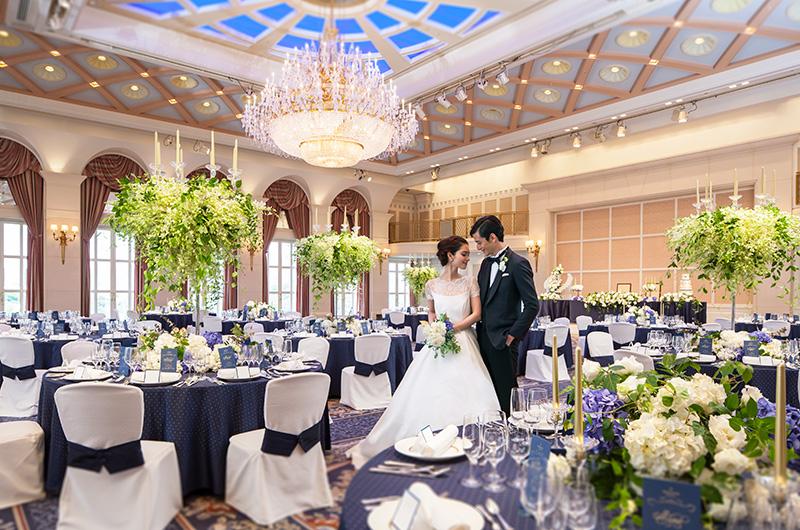 世界各国から賓客をお迎えして開かれる、晩餐会の舞台となるボールルームです