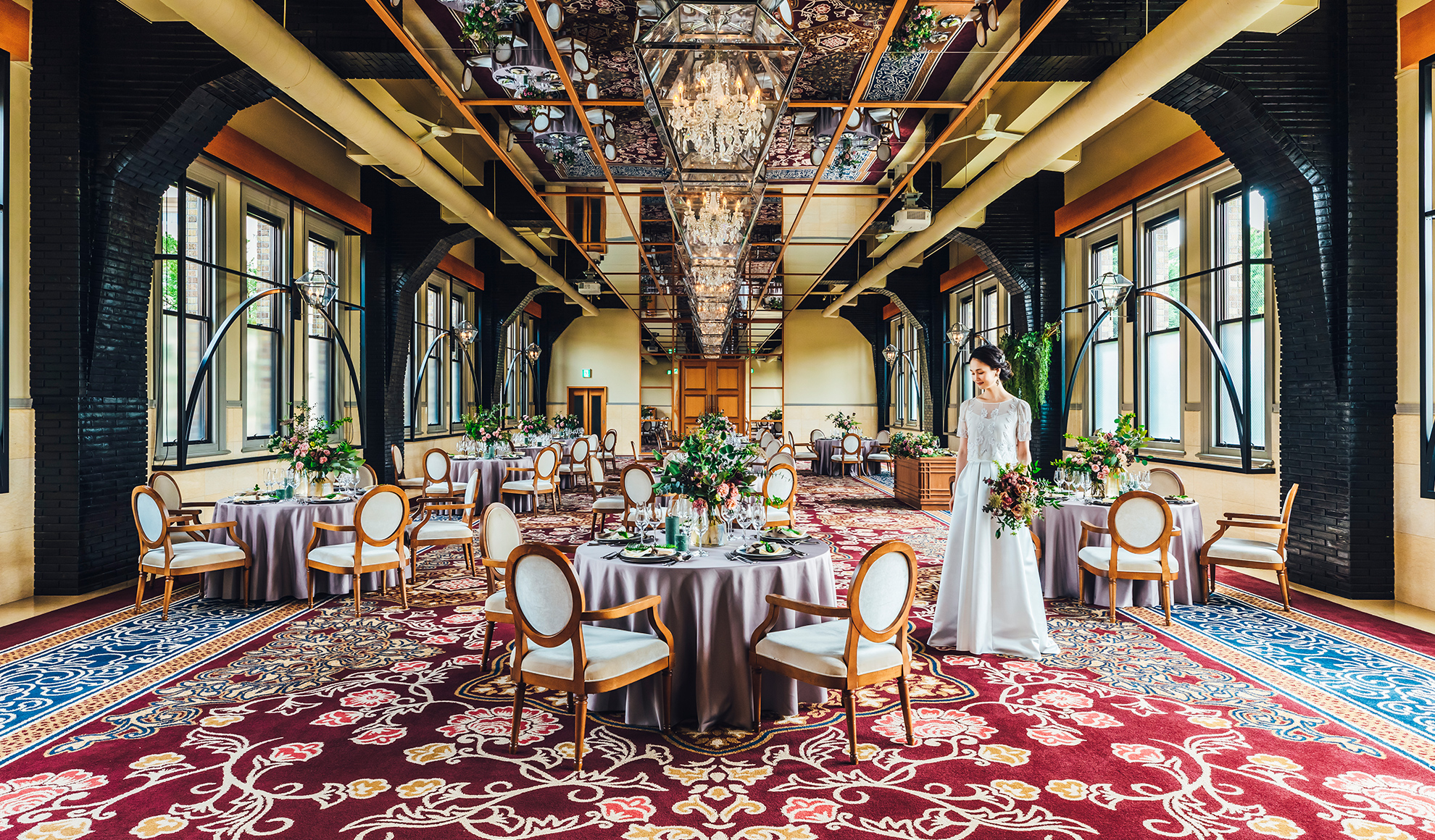 時の融合が織りなす美空間が、ゲストの想い出に華やかさを添えます
