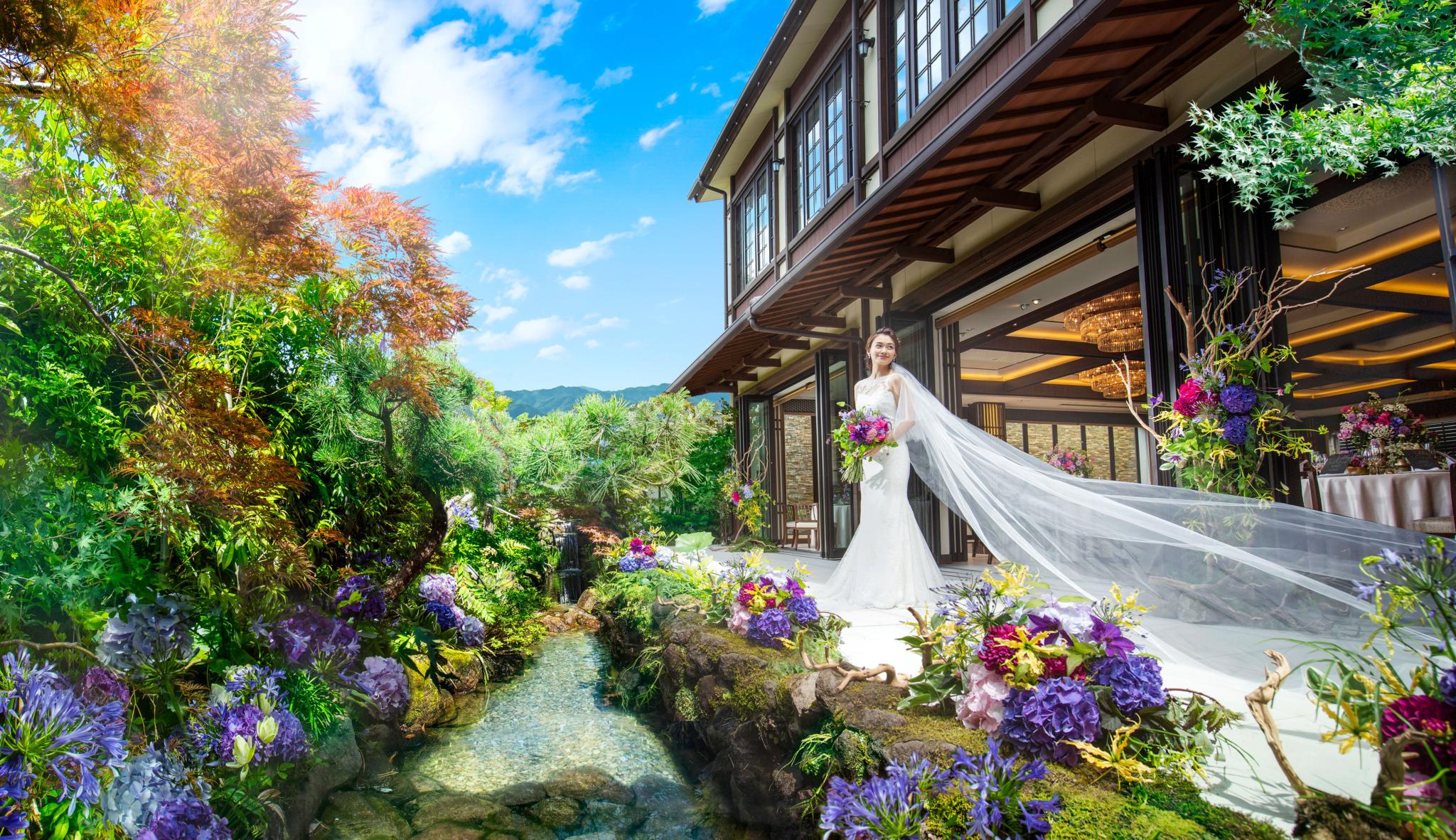 京都らしい伝統と風情につつまれながら 美食とおふたりらしい演出でおもてなし