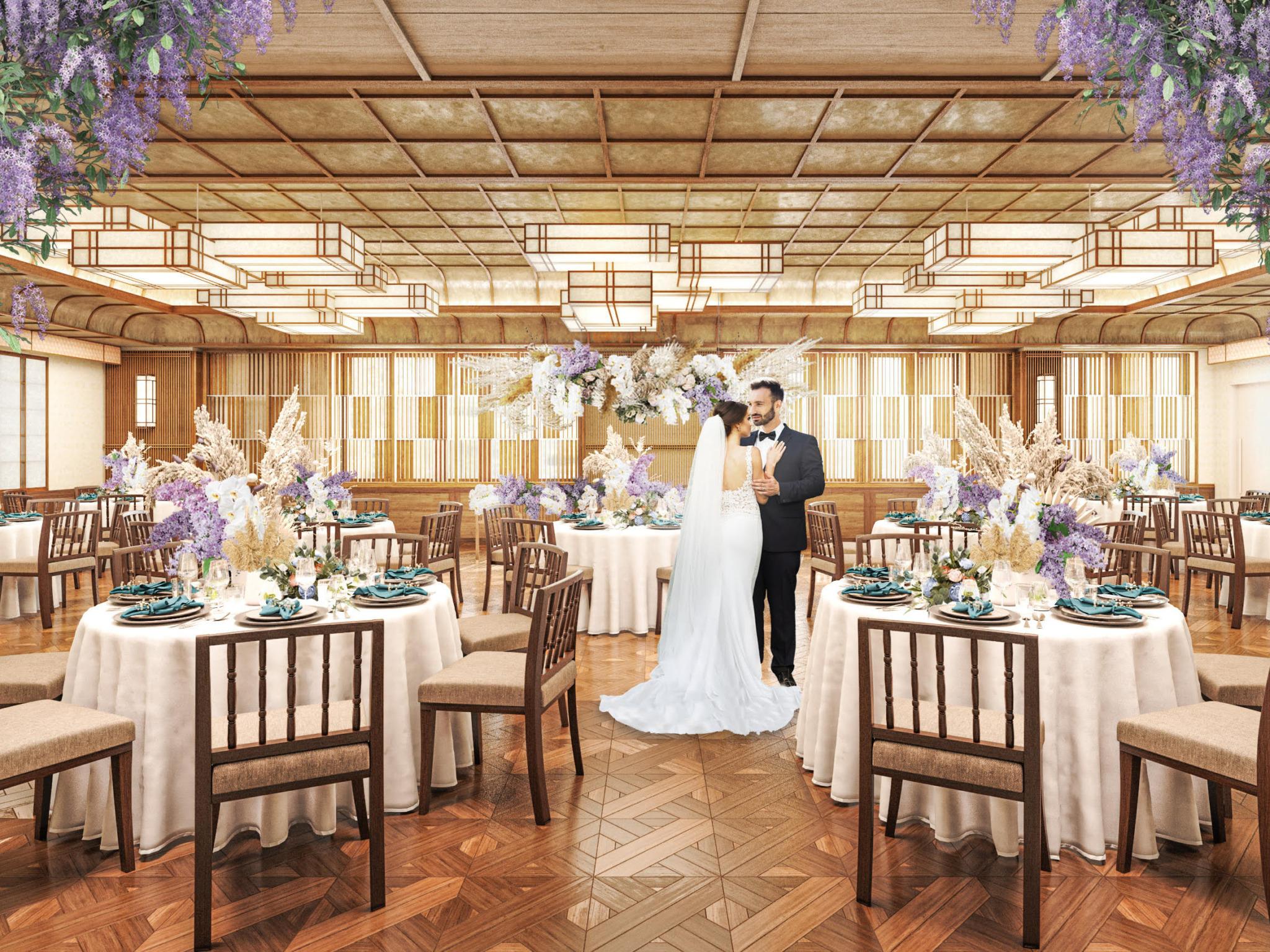 モダンジャパニーズをコンセプトに京都らしい歴史と伝統を表現したパーティー会場が誕生
